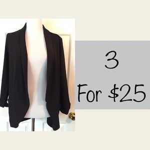Lush oversized lightweight blazer w/pockets sz L